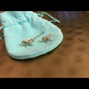 Tiffany and Co bow earrings